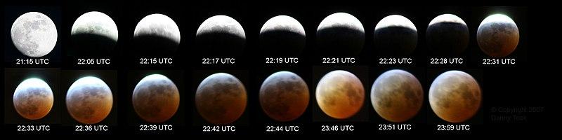 Secuencia completa del eclipse total del 3 de marzo de 2007