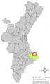 Localització dels Poblets respecte del País Valencià.png