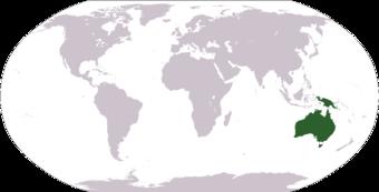 australien karte physisch