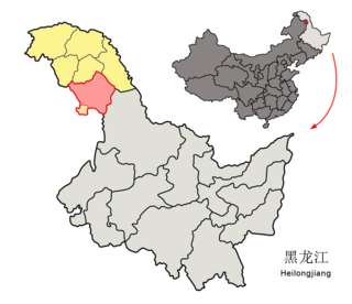 Songling District Administrative Zone in Heilongjiang, Peoples Republic of China