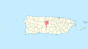 Location of Ciales in Puerto Rico