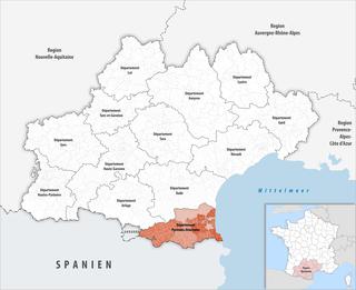 Location of the Pyrénées-Orientales