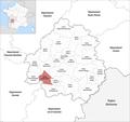 Locator map of Kanton Pays de la Force 2019.png