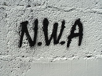 Compton, California - N.W.A graffiti