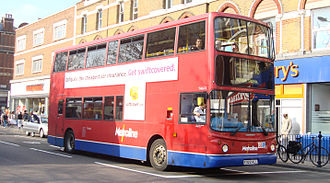 London Buses route 16 - Metroline Alexander ALX400 bodied Dennis Trident 2 in April 2007