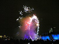 London Eye fireworks 2005.jpg