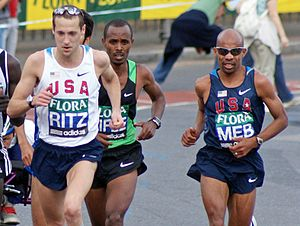 2010 New York City Marathon - Defending champion Meb Keflezighi, seen here in London, was sixth and Dathan Ritzenhein took eighth.