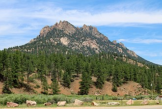 Jefferson County, Colorado - Long Scraggy Peak in the southeastern part of the county.