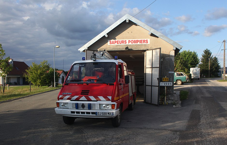 Local incendie à Longeville (Doubs).