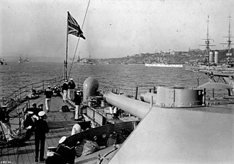 HMS Russell (1901) - Russell at the Quebec Tercentenary