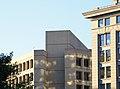 Looking northwest at corner column and HVAC penthouse - J Edgar Hoover Building - Washington DC - 2012.jpg