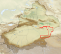 Lop Nur Wild Camel Reserve Boundaries.png