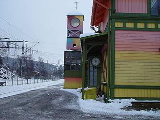 Lørenskog Station - Lørenskog Station in the color scheme as Sesame Station