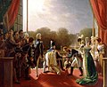 Louis XVIII and the royal family assisting at the return of the troops of the Spanish expedition from the balcony of the Tuileries, 1824.jpg