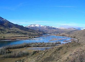 Flathead River - The river near Perma, Montana