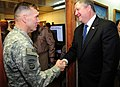Lt. Gen. William B. Caldwell IV, commander NATO Training Mission - Afghanistan, greets the Honorable Michael Donley (4330616380).jpg