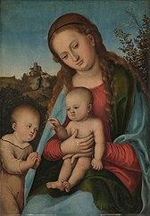Maria mit Kind und Johannesknaben (Nachahmer)
