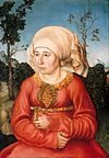 Lucas Cranach d. Ä. - Portrait of Frau Reuss - WGA05677.jpg
