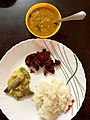 Lunch with Rice and Dal and Vegetables.jpg