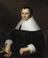 Portret kobiety z rękawiczkami
