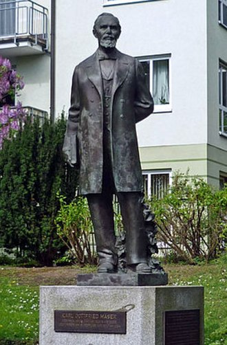 Karl G. Maeser - Statue of Karl Maeser in Dresden, Germany