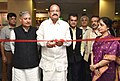 M. Venkaiah Naidu inaugurating an exhibition on Smart Cities, at the National Workshop on Urban Transformation, in New Delhi.jpg