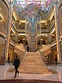 MC 萬豪酒店 JW Marriott 澳門銀河 Galaxy Macau interior hotel lobby stairs n ceiling lamp Jan 2017 IX1.jpg