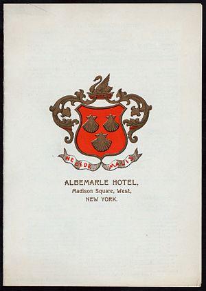 Albemarle Hotel - Menu