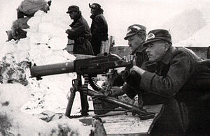 Schwarzlose machine gun - Austro-Hungarian machinegunners in the Tyrolean high mountains.