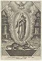 Maagd Maria geflankeerd door symbolen uit de Lauretaanse Litanie, RP-P-1906-1768.jpg