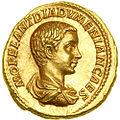 Macrino, aureo per diadoumeniano cesare, 217-18, 01.JPG