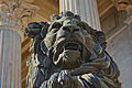 Madrid. Carrera de San Jerónimo street. Lion sculpture. Congress building. Spain (2851835812).jpg