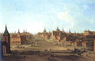 View of Calle de Alcala in 1750 by Antonio Joli Madrid - Calle de Alcala in 18th-century by Antonio Joli.jpg