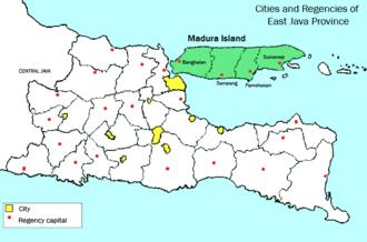 Madura Island - Image: Madura locator