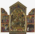 Maestro di San Gaggio - Triptych. Centre Scenes from the Lives of the Thebaid Saints. Wings Scenes from the Passion of Christ - National galleries-edimburgo.jpg