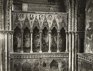 Northern Master - The left loggia of the north transept in the Upper Church at the Basilica of St Francis in Assisi