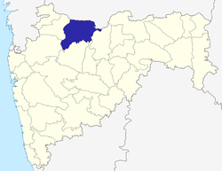 Location of Jalgaon district in Maharashtra
