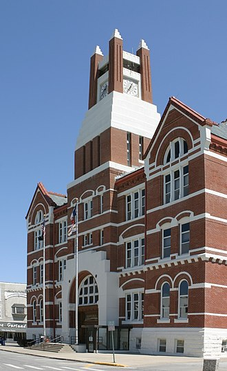 Oskaloosa, Iowa - The Mahaska County Courthouse in Oskaloosa is listed on the National Register of Historic Places