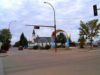 Slave Lake - Image: Mainstreet Alberta Slave Lake 3985