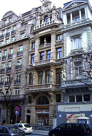 "Hendrik Beyaert - ""Maison des Chats"" or ""Hier ist in den kater en de kat"", Brussels, Avenue Adolphe Max"