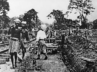 Japanese occupation of Malaya - Malay Tamils working on the Thai-Burma railway
