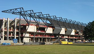 Swedbank Stadion - The stadium during construction in July 2008