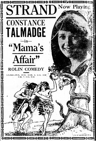 Mama's Affair - Newspaper advertisement.