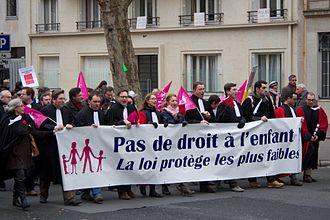 "Law 2013-404 - ""Manif pour tous"" rally against same-sex marriage, Paris, January 2013."
