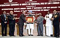 Manmohan Singh presenting the National Law Day Award-2008 to Mr. Justice Ashok Bhan (Administration of Justice) Chairman, National Consumer Disputes Redressal Commission and former Judge.jpg