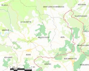 Aigues-Vives, Hérault - Map