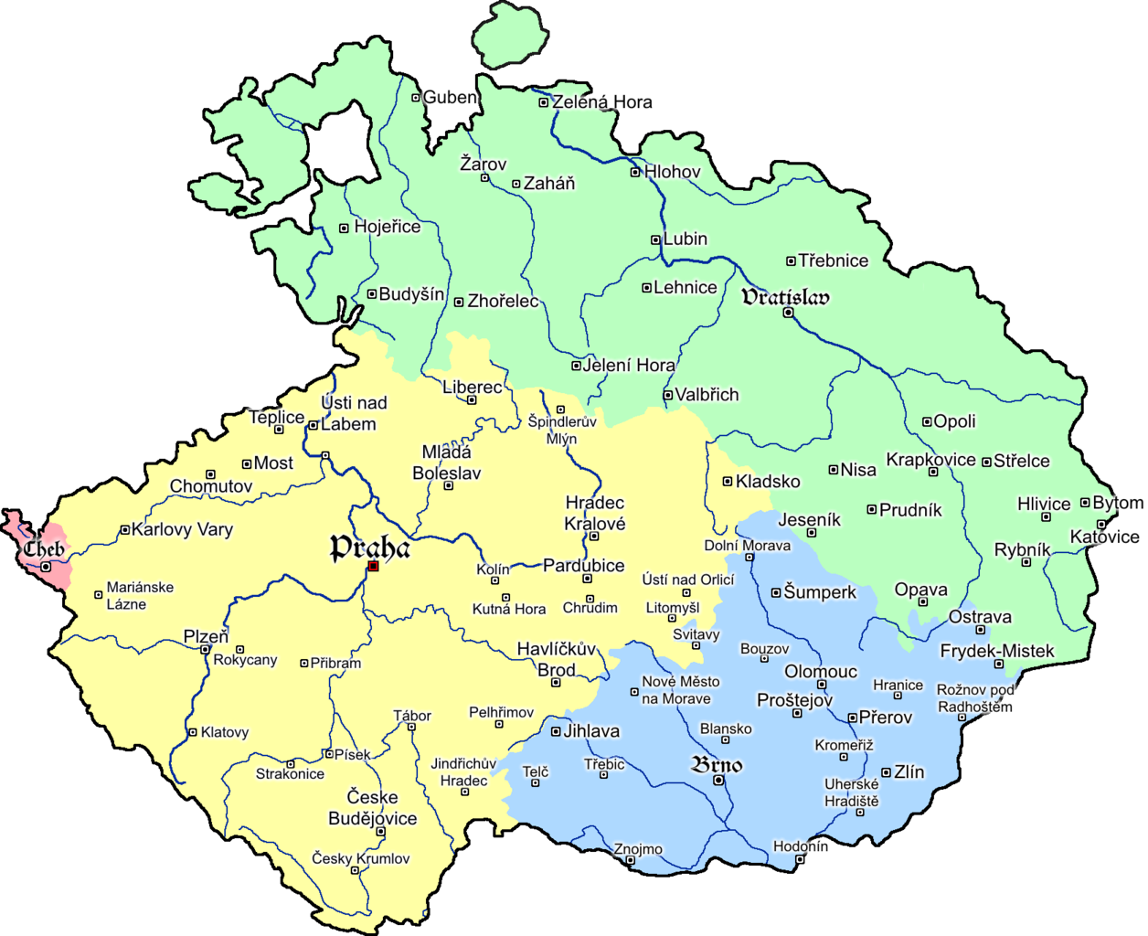 Map Of Bohemia File:Map of Bohemia 1618.png   Wikimedia Commons Map Of Bohemia