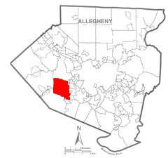 Map of Collier Township, Allegheny County, Pennsylvania Highlighted.png