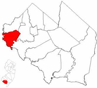 Greenwich Township, Cumberland County, New Jersey - Image: Map of Cumberland County highlighting Greenwich Township