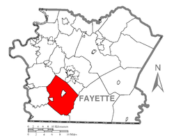 Location of Georges Township in Fayette County